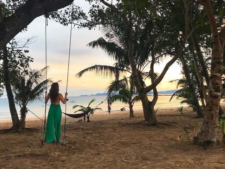 Sabang Beach Palawan Philippines Sunrise