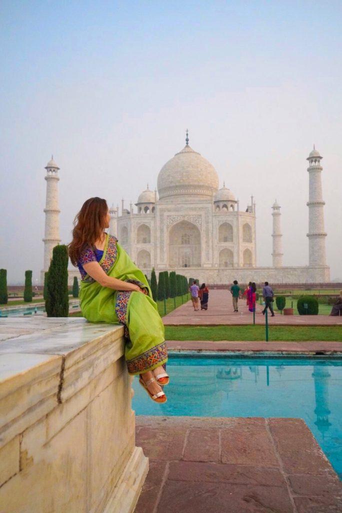 India Taj Mahal at sunrise