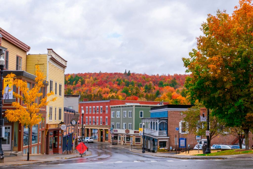 Saranac lake Adirondacks in the Fall