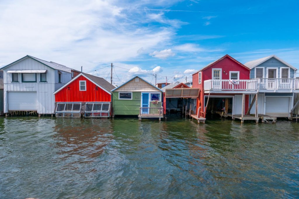 Boat Houses at Canadaigua Lake Pier