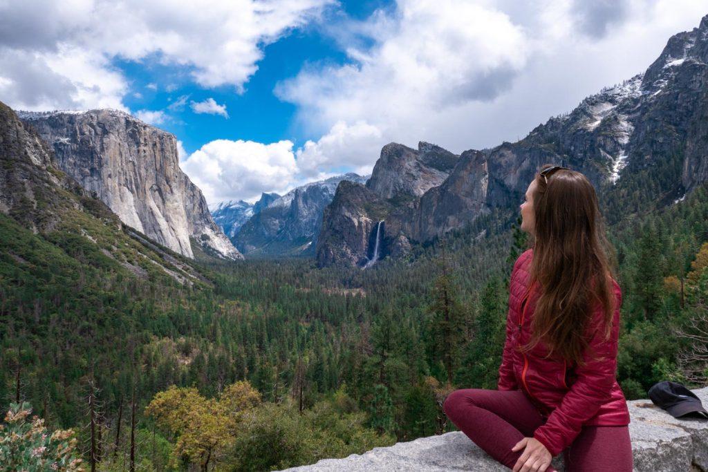 Car Camping road trip stop in Yosemite