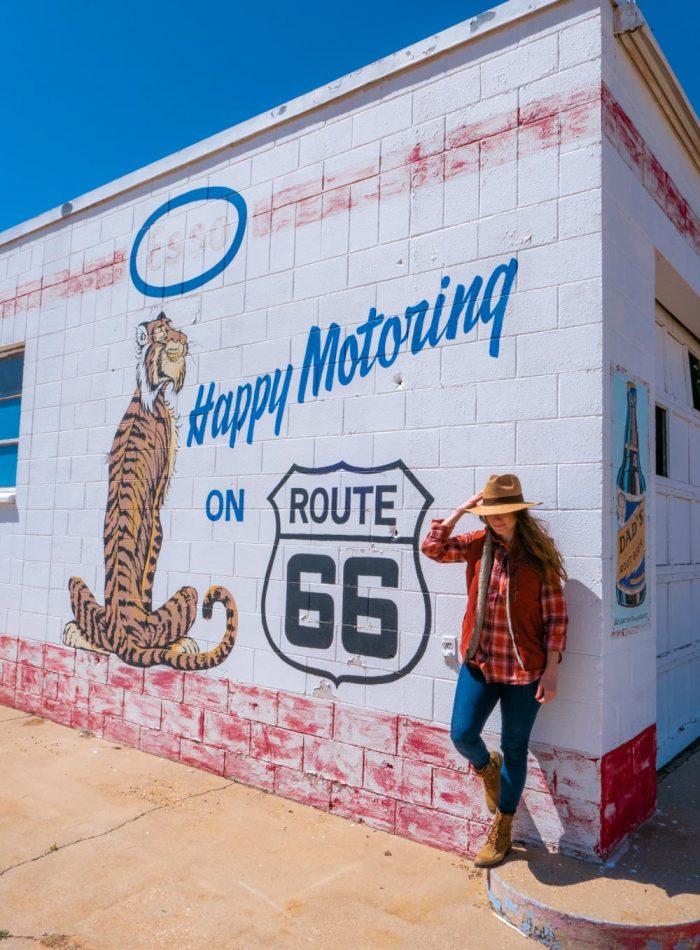 Route 66 mural in Tucumcari, NM