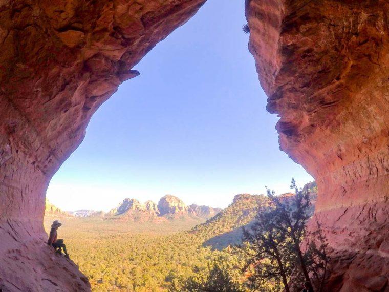 views from Sedona's Birthing Cave Hike